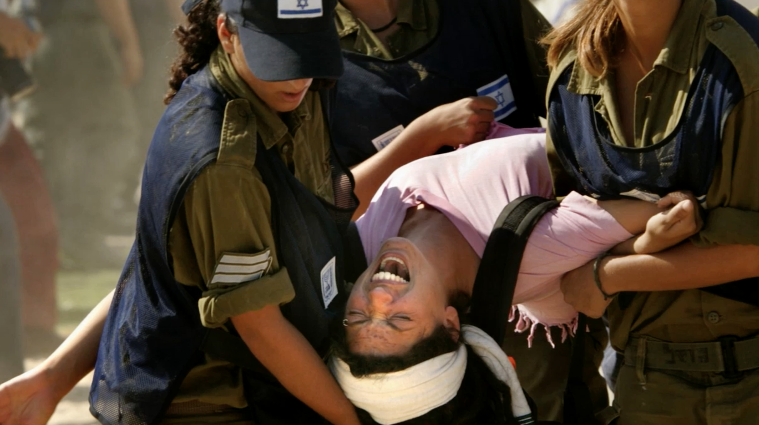 Settler Evicted by Soldiers